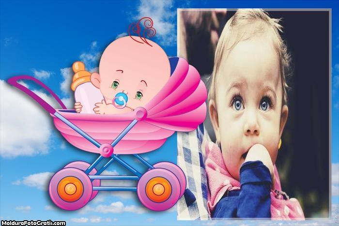 Carrinho de Bebê Moldura