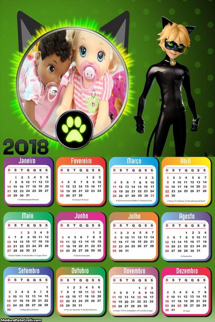 Calendário do Cat Noir 2018