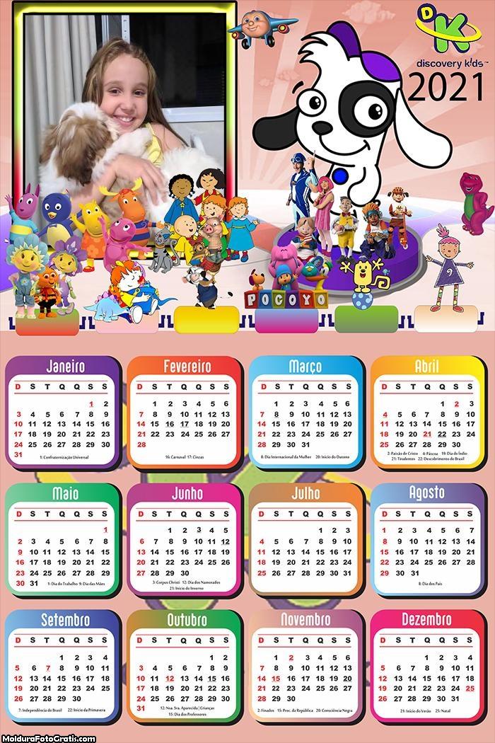 Calendário Discovery Kids 2021