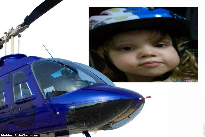 Moldura Helicóptero para Montagem de Foto