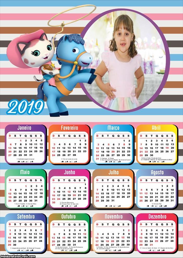 Calendário Shriff Callie 2019