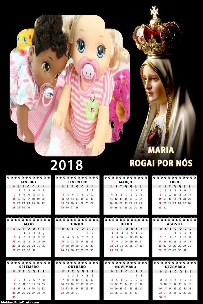 Calendário Mãe Maria 2018