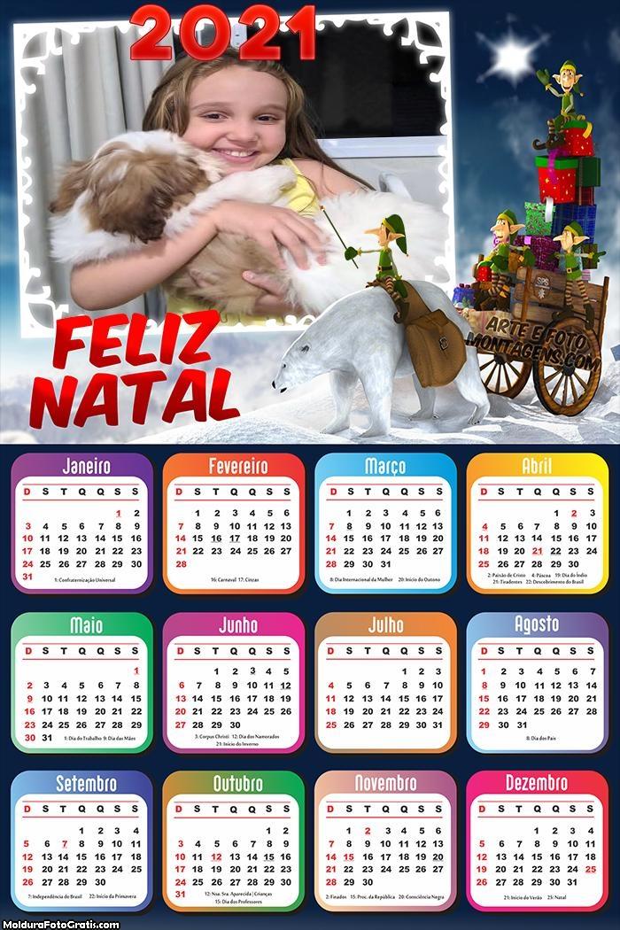 Calendário Gnomos Natalino 2021