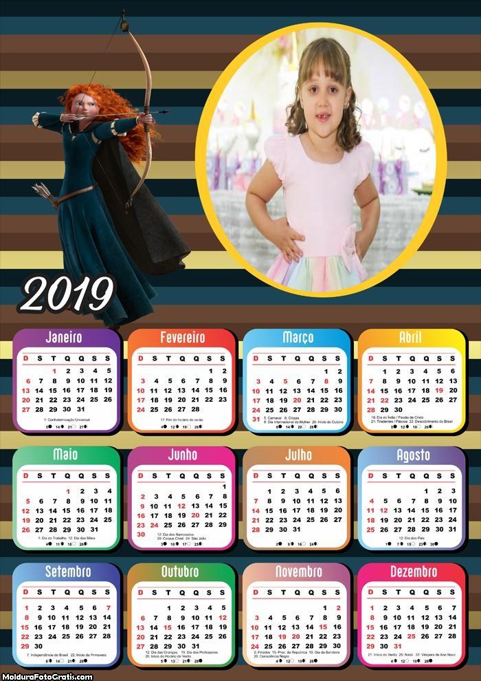 Calendário Valente 2019