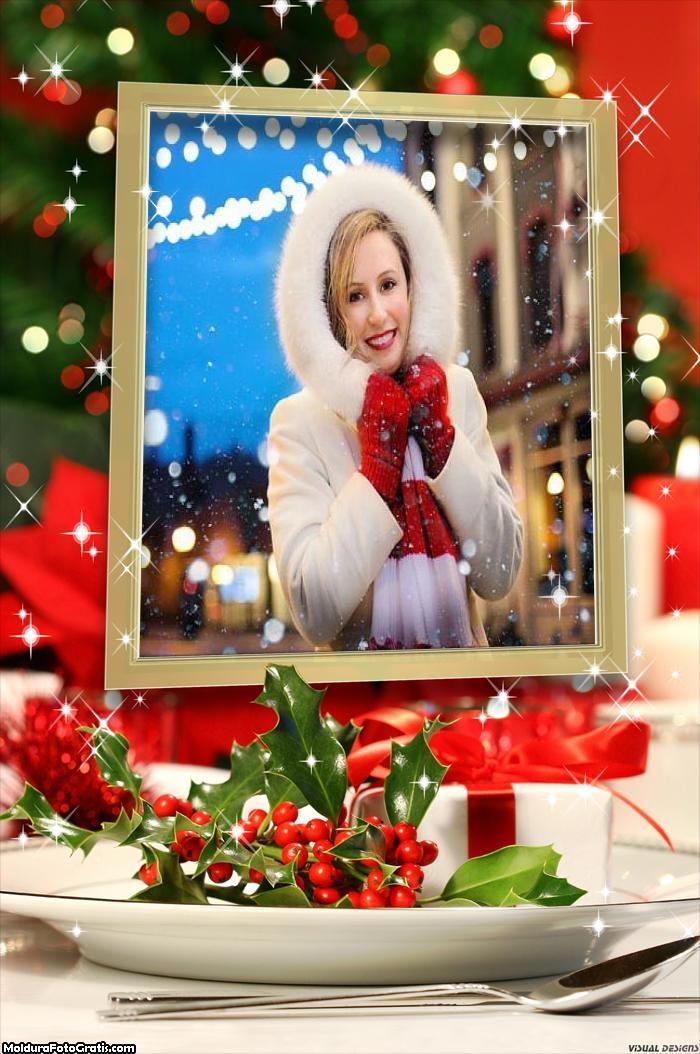 Prato de Natal Moldura