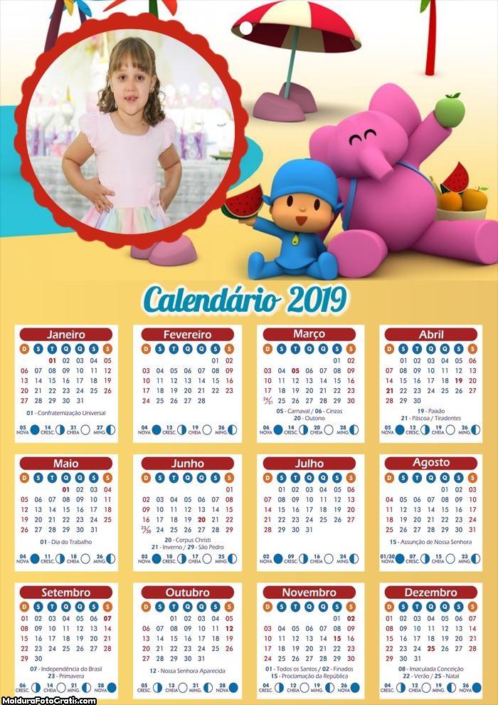 Calendário Pocoyo 2019