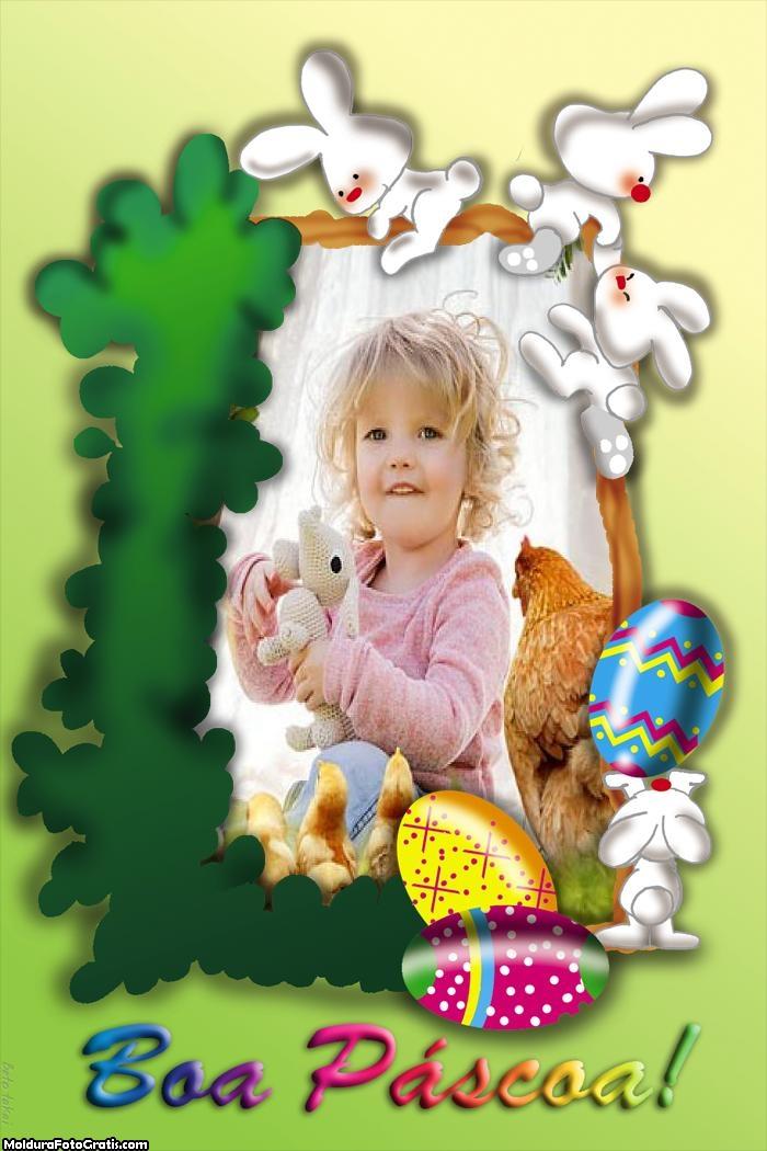 Boa Páscoa Moldura
