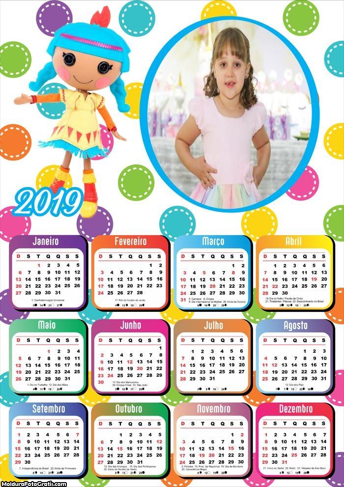 Calendário Lalaloopsy 2019