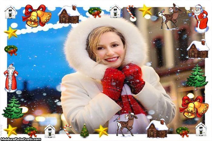 Itens de Natal Moldura para Montagem