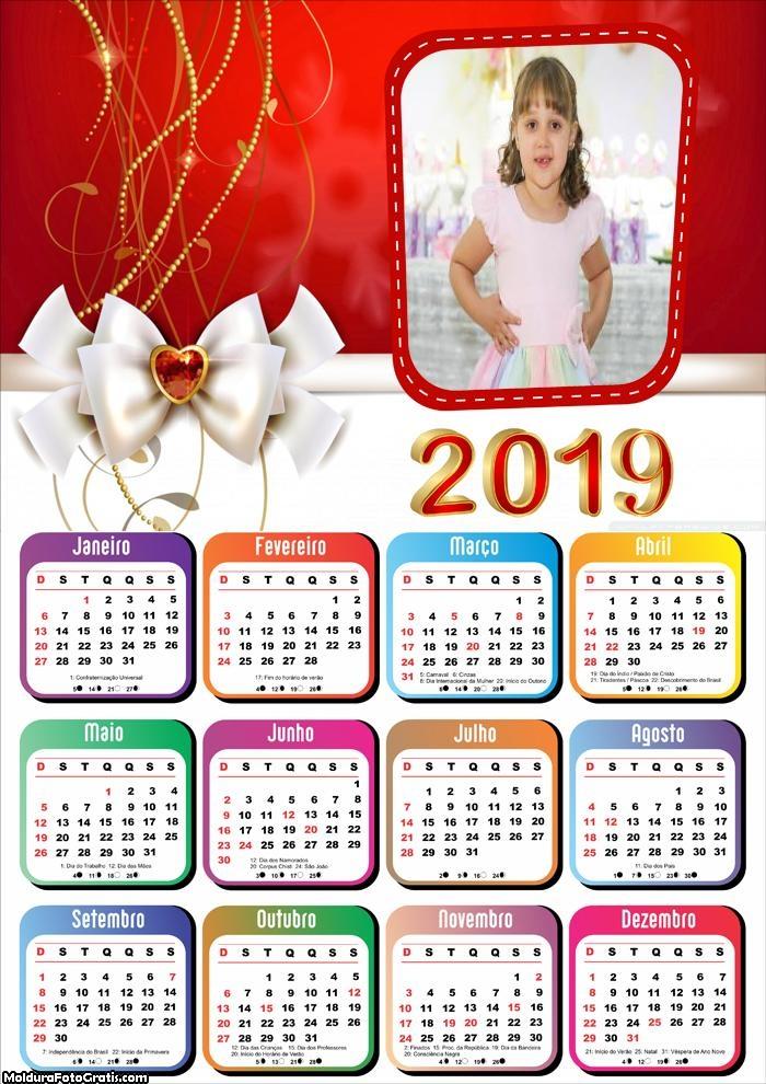 Calendário Laço de Natal 2019