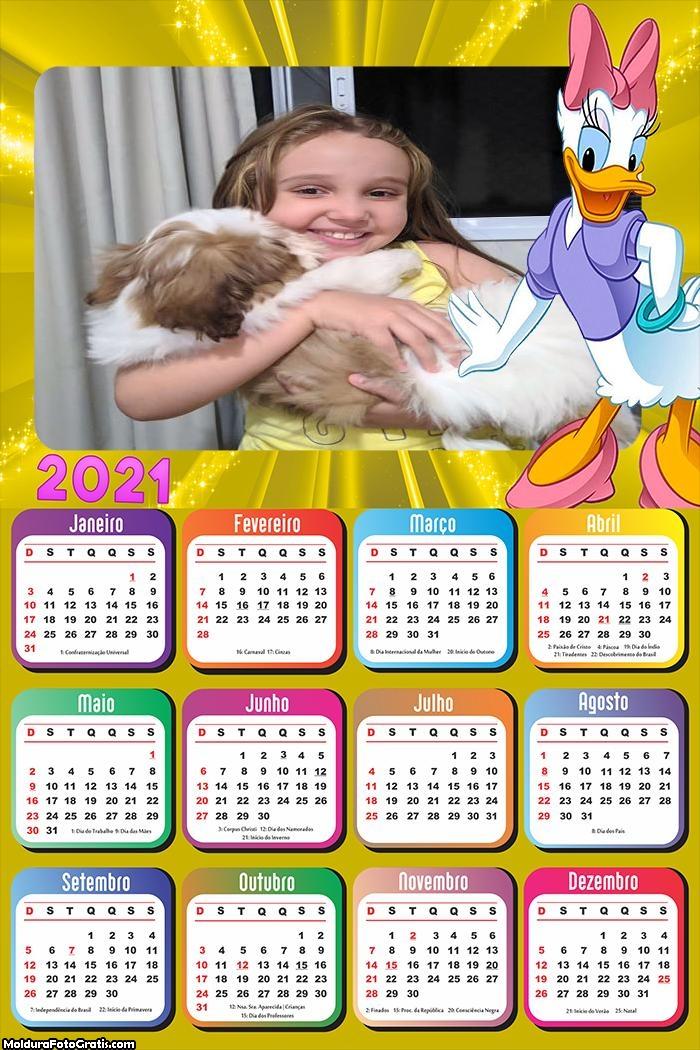 Calendário Margarida 2021