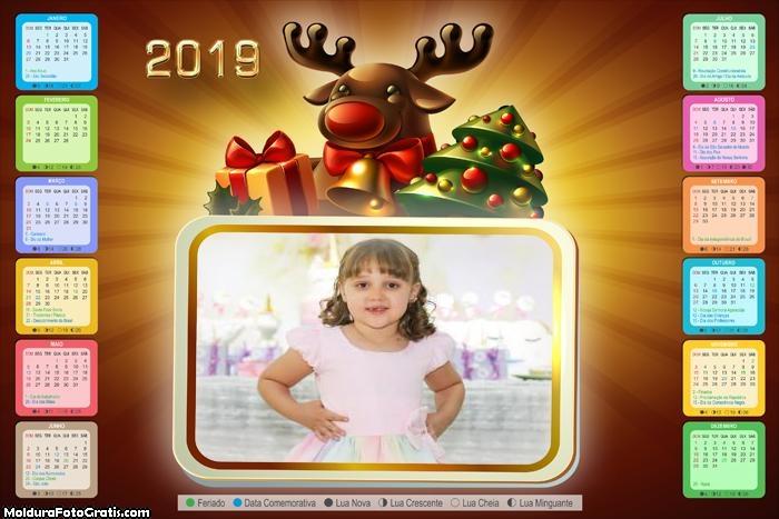 Calendário Rena de Natal 2019