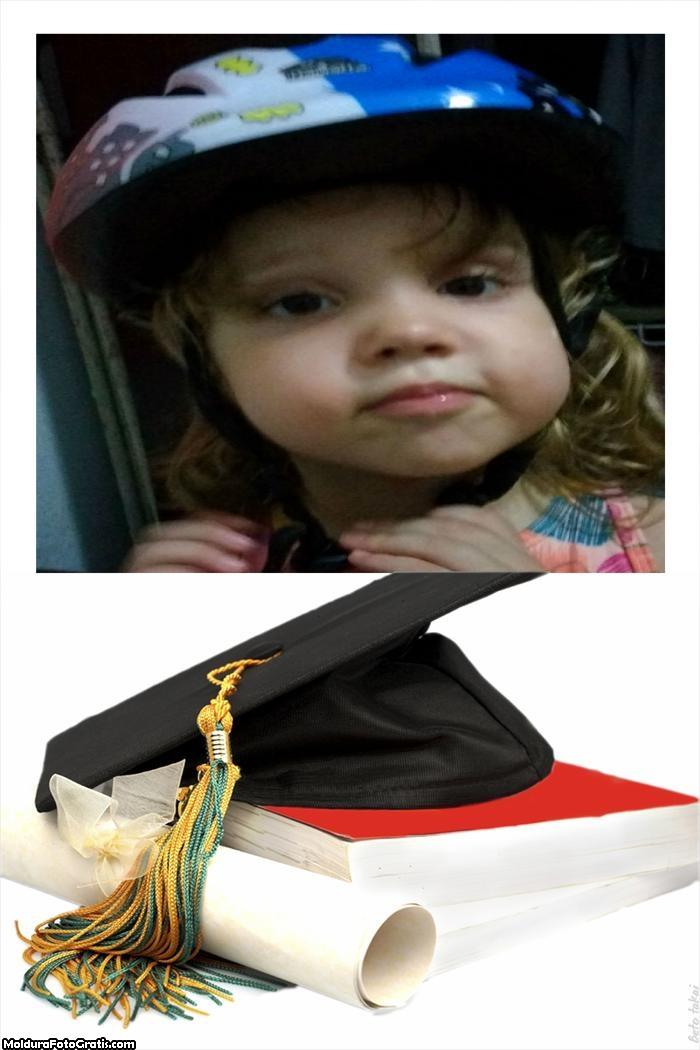 Colagem Online Diploma e Capelo