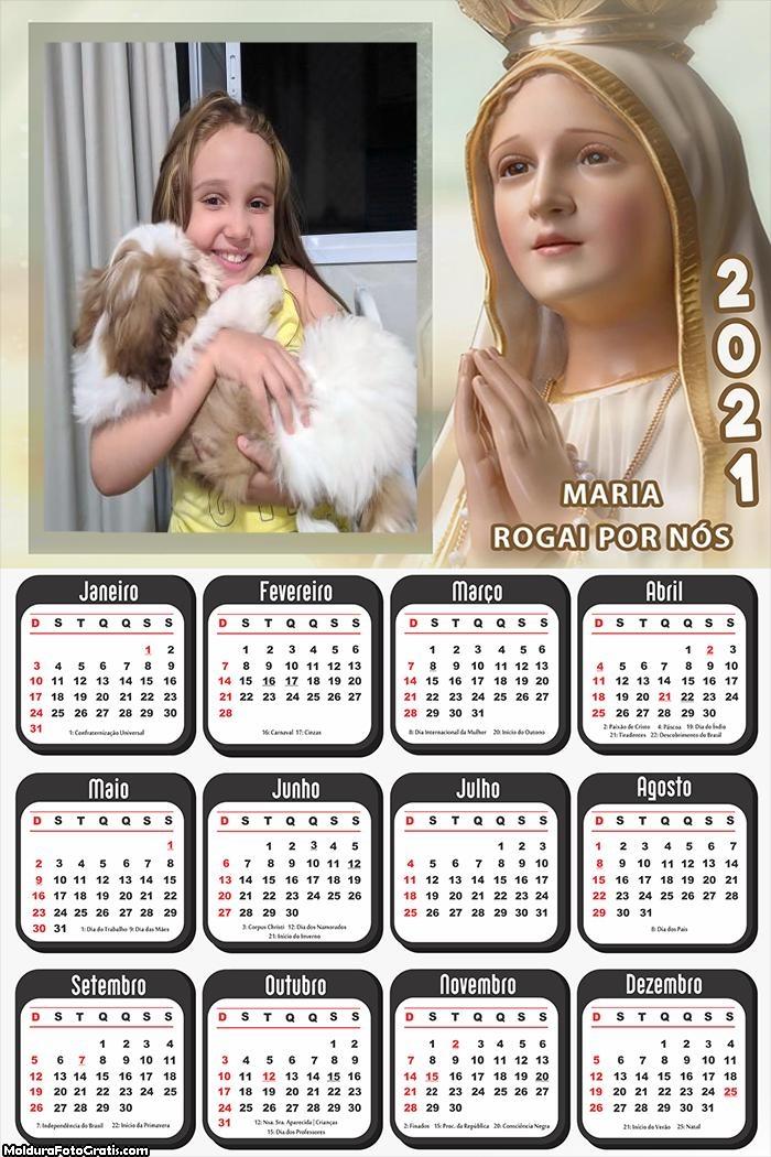 Calendári Maria Rogai por Nós 2021