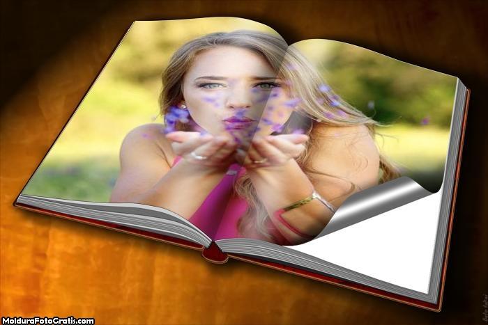 Moldura Folha do Livro