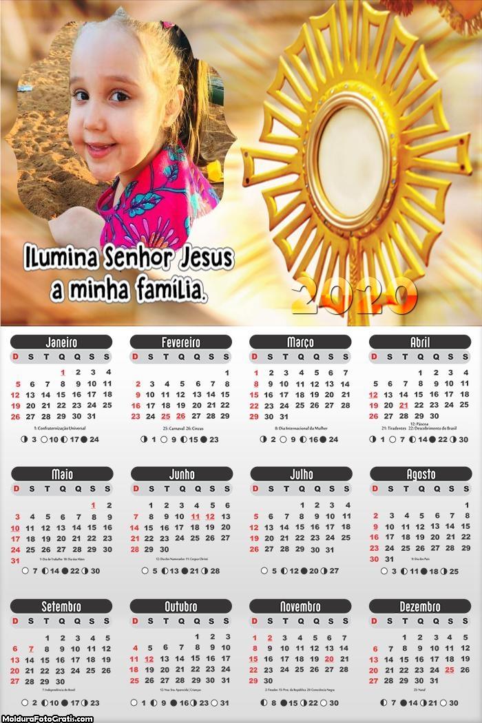 Calendário Ilumina Senhor Jesus 2020