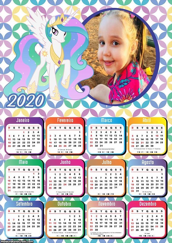Calendário Unicórnio 2020