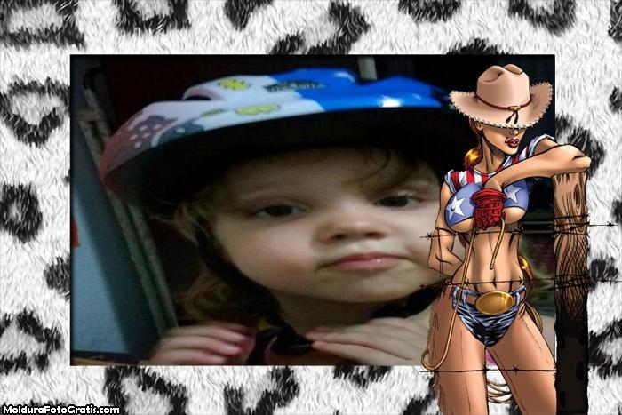 FotoMoldura Cowgirl Sexy Rodeio