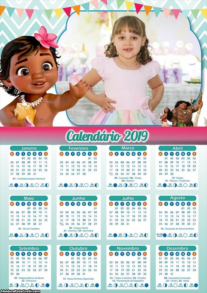Calendário da Moana Baby 2019