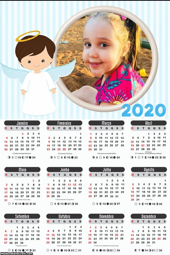 Calendário Anjinho 2020