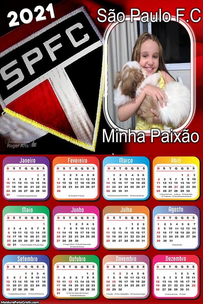 Calendário São Paulo Minha Paixão 2021