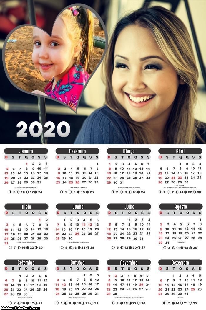 Calendário Bruna Karla 2020