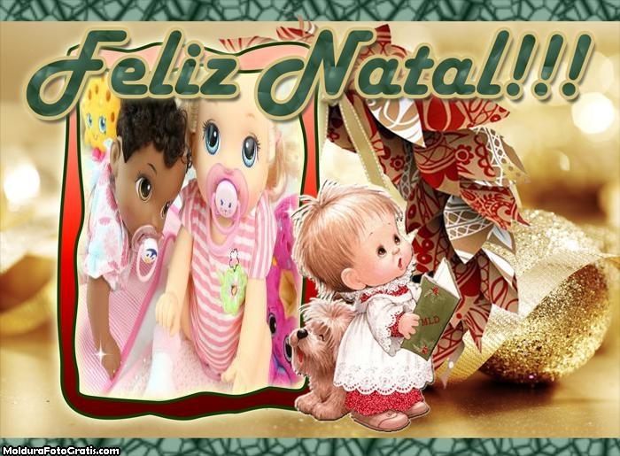 Anjinhos de Natal FotoMoldura