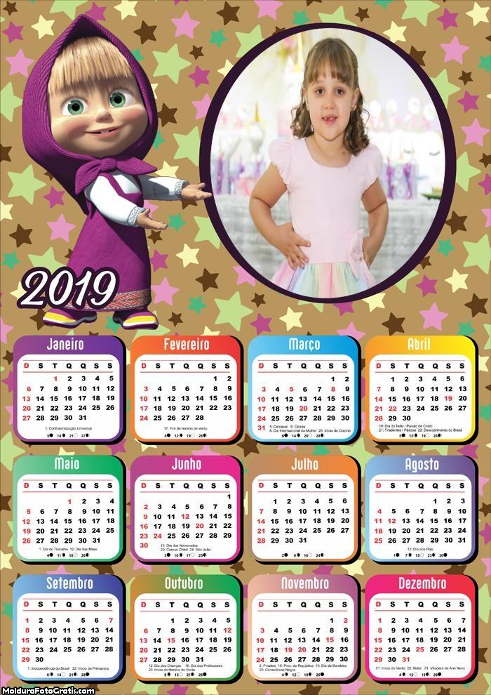 Calendário Masha e o Urso 2019