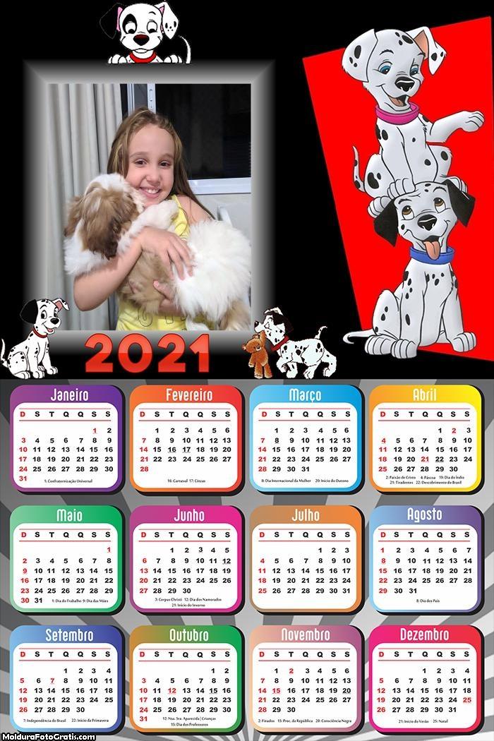 Calendário 101 Dalmátas 2021