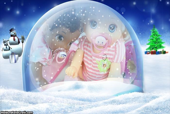Bola de Cristal Lembrança de Natal