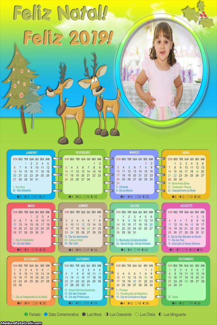 Calendário Animais Ajudantes Papai Noel 2019