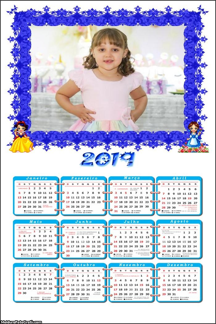 Calendário Princesinhas Digitais 2019