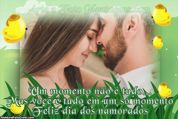 Frase Dia dos Namorados Foto Moldura