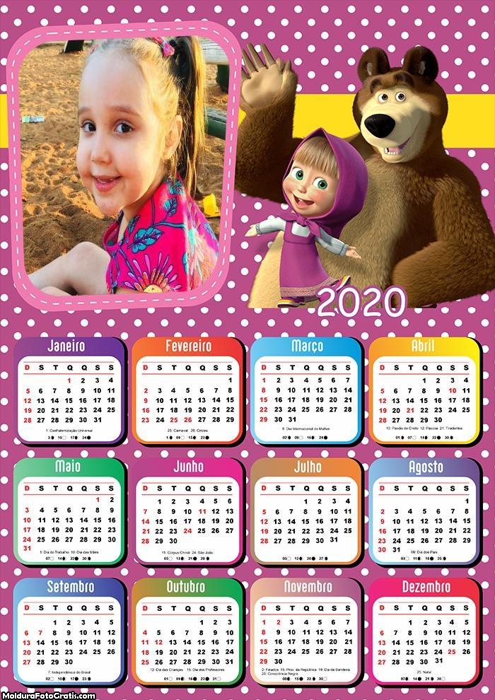 Calendário Masha e o Urso 2020
