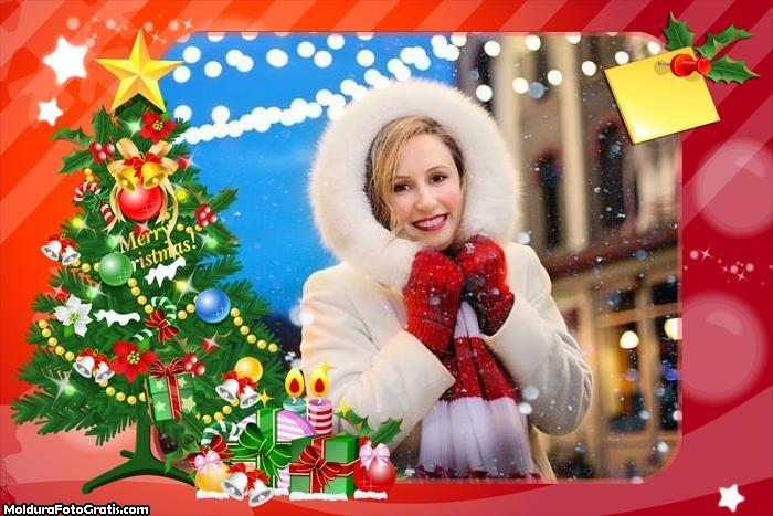 Natal Colagem de Fotos Moldura