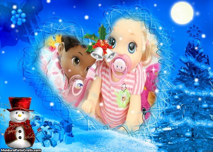 Boneco de Nove no Natal Azulado