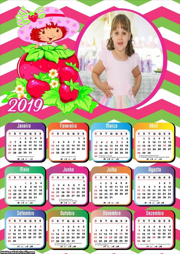 Calendário Moranguinho 2019 Moldura