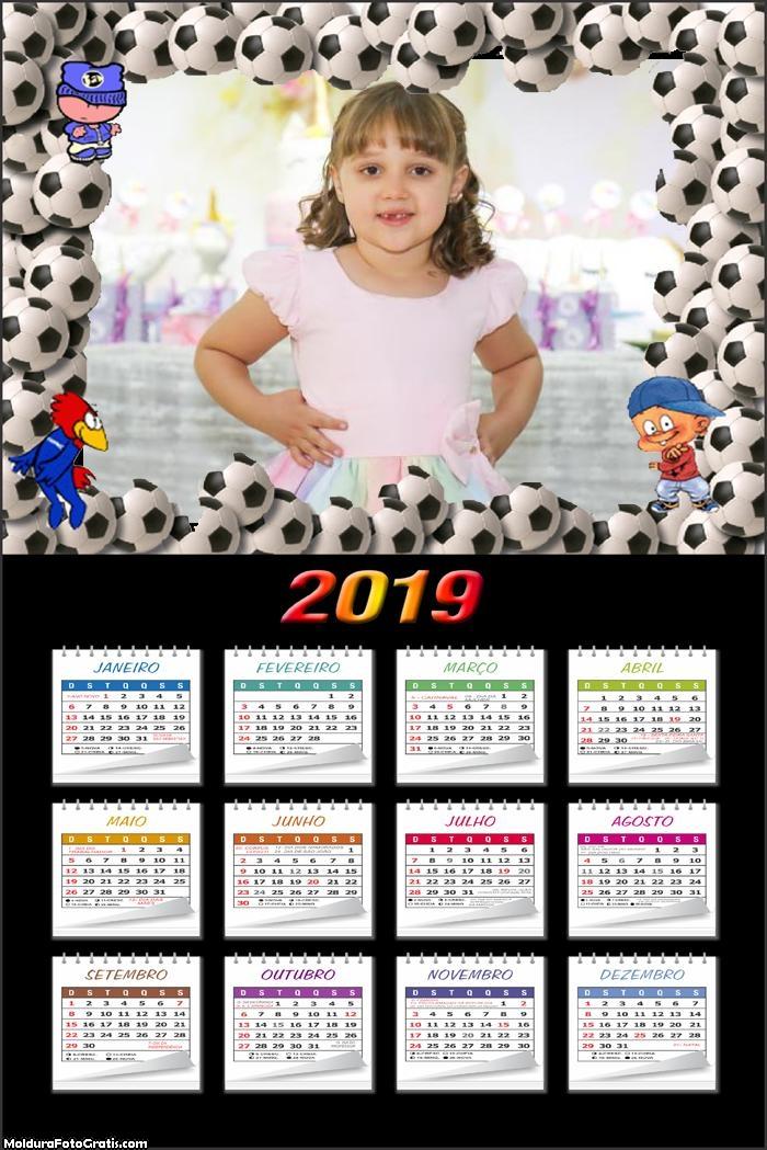 Calendário Bolas de Futebol 2019