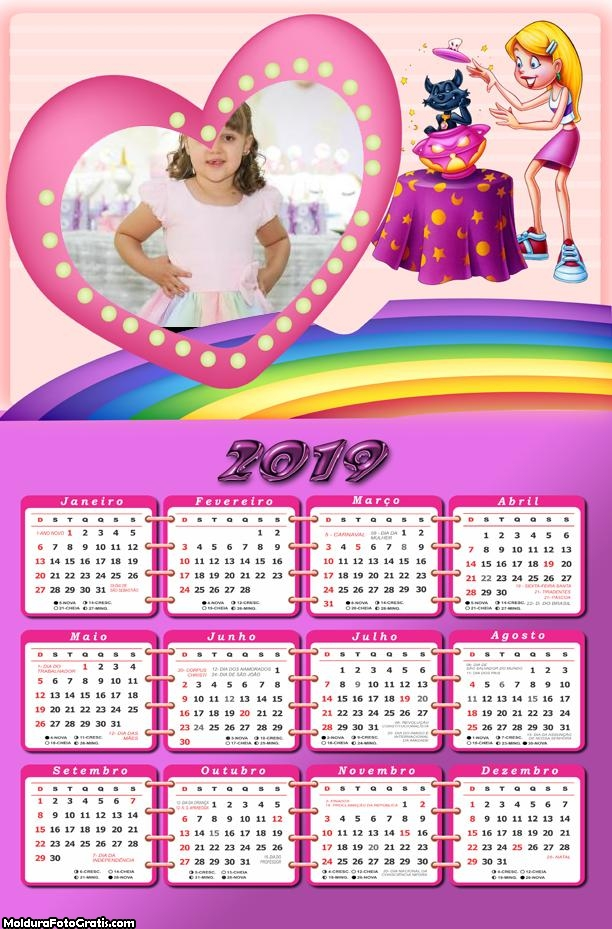 Calendário Halloween 2019 Moldura