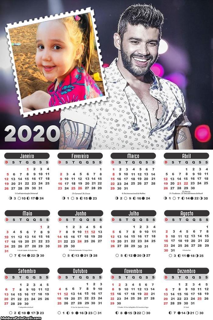 Calendário Gusttavo Lima 2020