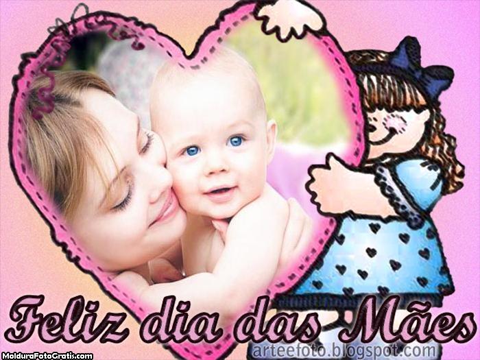 Bonequinha Feliz dia das Mães