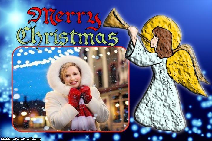 Anjinha de Natal Moldura