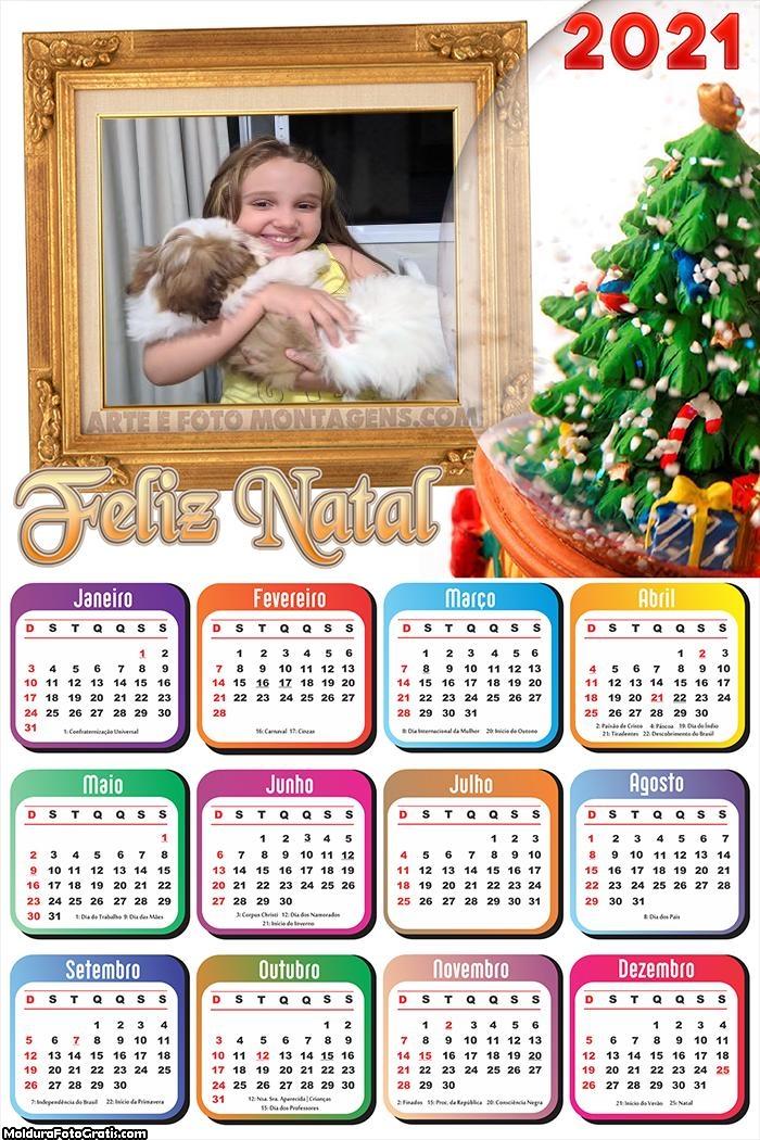 Calendário Feliz Natal Lembrança 2021