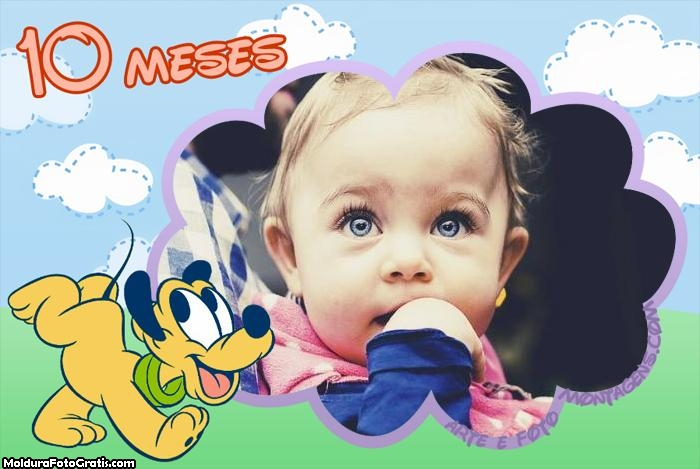 Pluto Baby 10 Meses Moldura