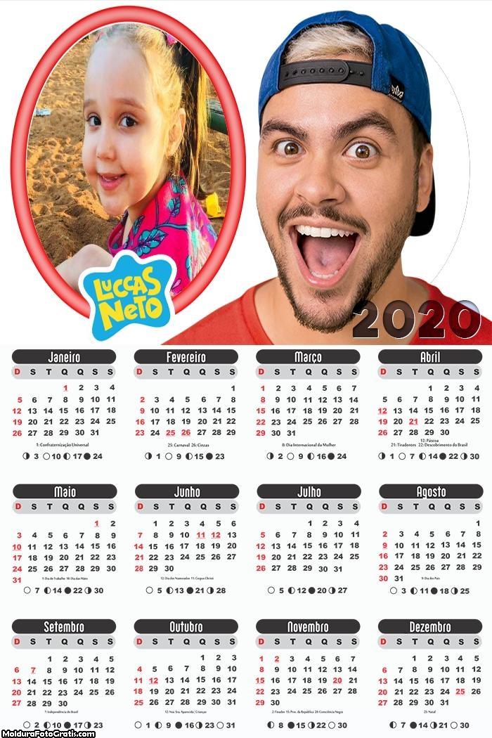 Calendário Luccas Neto 2020