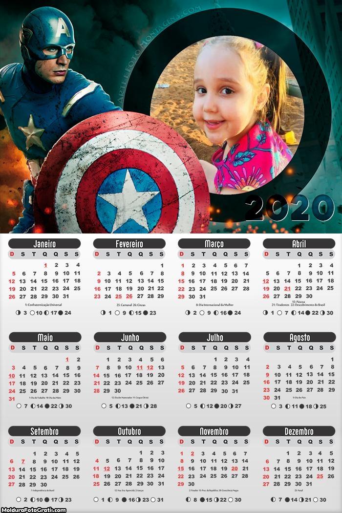 Calendário do Capitão América 2020