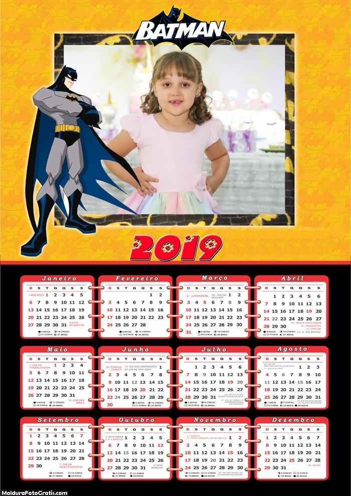 Calendário Batman 2019 Moldura
