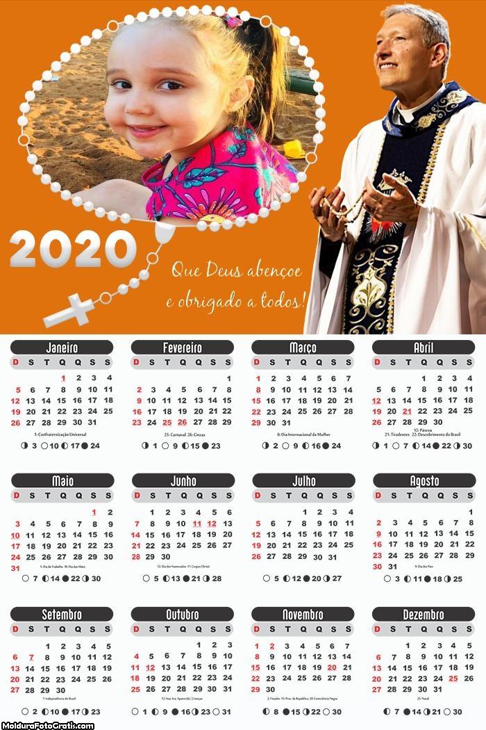 Calendário Padre Marcelo Rossi 2020