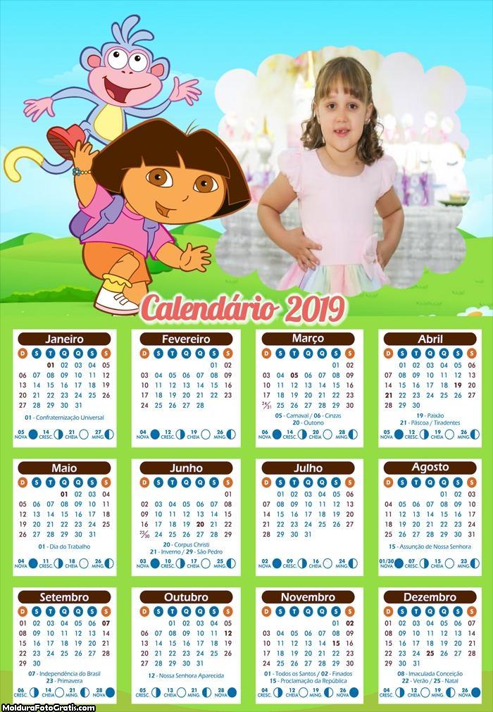 Calendário da Dora a Aventureira 2019