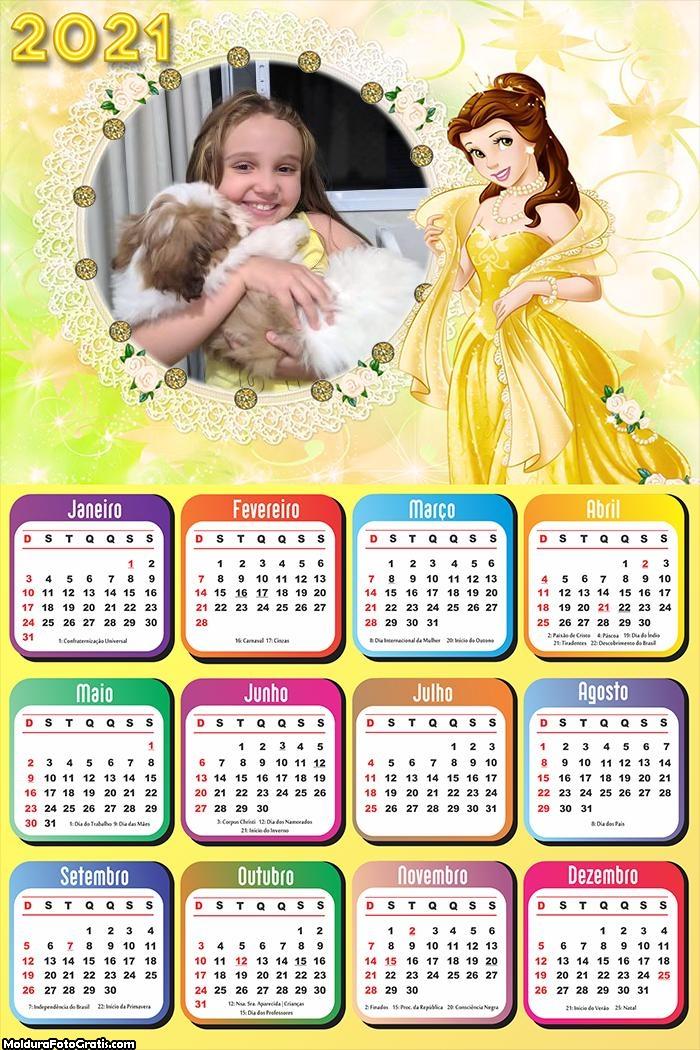 Calendário Princesa Bela 2021